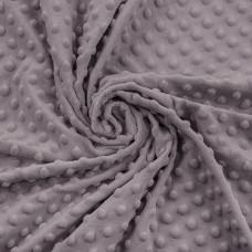 80*100 см Плюш  Dapple Gray серо-фиолетовый в пупырышки