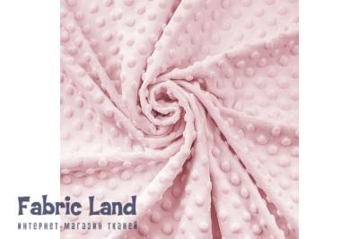 Плюш Blushing Bride нежно розовый в пупырышки