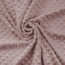 80*100 см Плюш  Sepia Rose пудровый в пупырышки