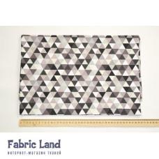 80*100см Серо-черно-графитовые треугольники
