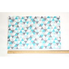 80*100см Сине-графитовые треугольники
