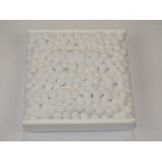 Тесьма с большими помпонами 20 мм Белая