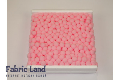 Тесьма с большими помпонами 20 мм Розовые