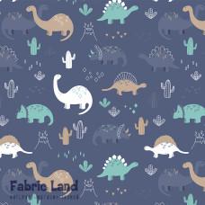 Динозавры на синем